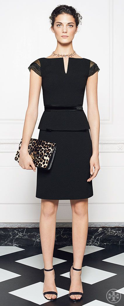 The Ashley dress creates an elegantly tailored hourglass silhouette | Tory Burch Holiday 2014