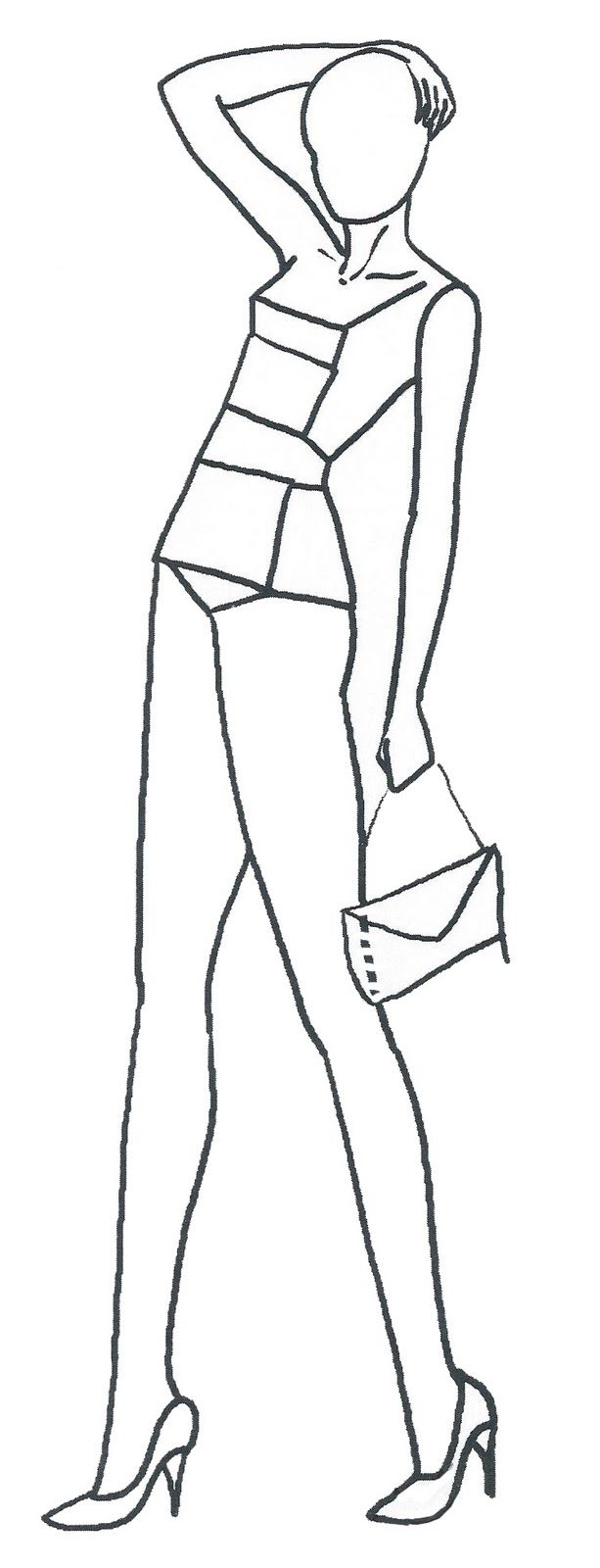 It is an image of Universal Fashion Drawing Templates