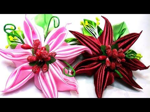 How to Make Flower Petals / D.I.Y. Kanzashi Flower Petals Tutorial, Kanzashi Tatiana Vasyliuk - YouTube