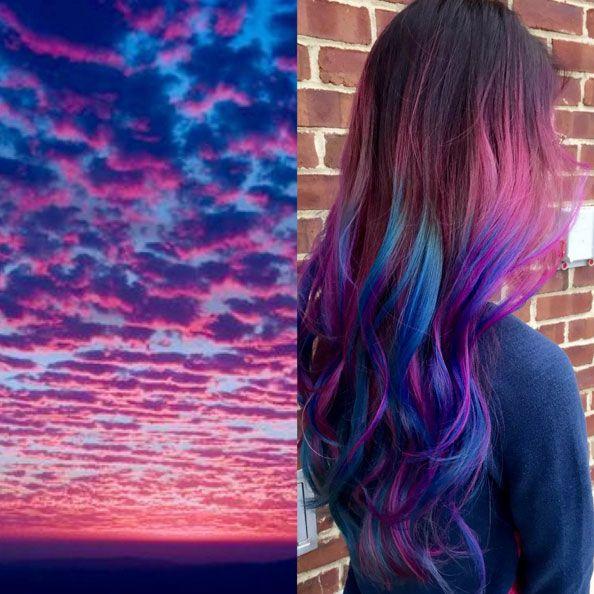 Rosa? Azul? Turquesa? Nada disso. As meninas estão pintando seus cabelos agora com... as cores do ...