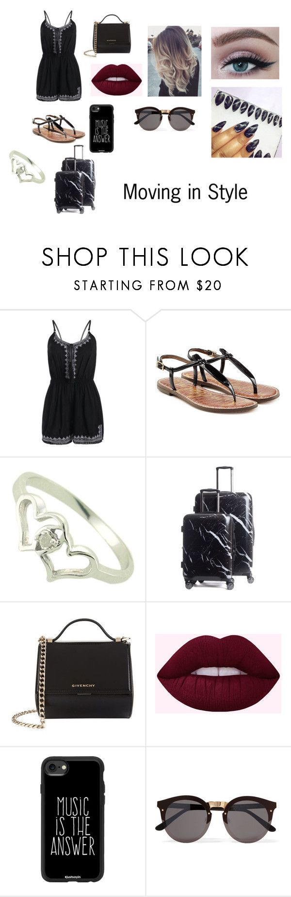 """Moving in style"" by courts-horan13 on Polyvore featuring Sam Edelman, CalPak, Givenchy, Casetify and Illesteva"