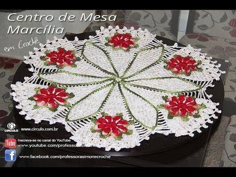 Centro de Mesa Toalha de Crochê Redonda Marcilia - Professora Simone