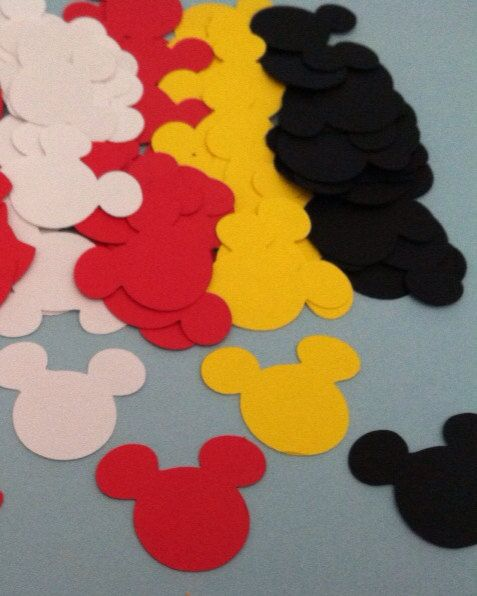 half inch die cut Party Confetti Minnie mickey mouse Clubhouse via Etsy