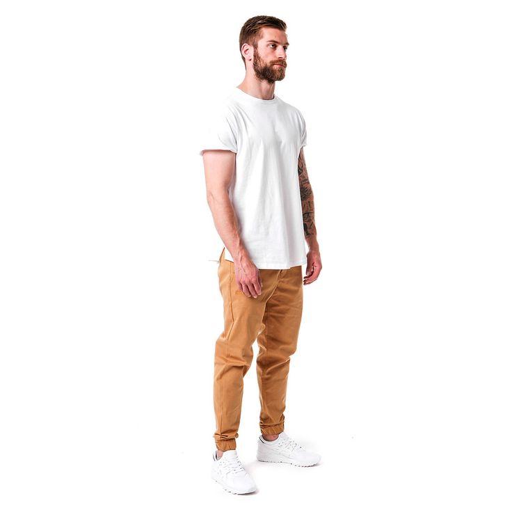 T-shirt męski Classic White Tshirt, od projektanta Mist   Mustache.pl