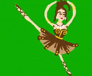 A barbarian ballerina