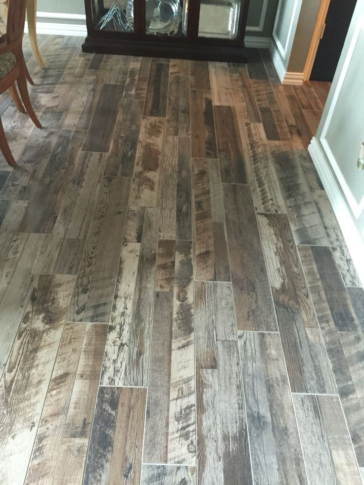 Grey Wood Look Tile With Images Stone Flooring Wood