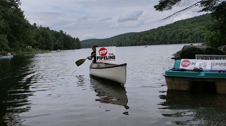 Ben Hillman-Potential irreversible damage to Lower Spectacle Pond prompted a protest against the Tennessee Gas Pipeline Co. project last summer.