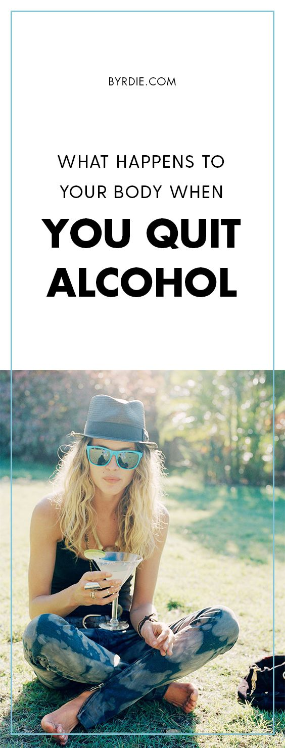What your body does when you give up alcohol