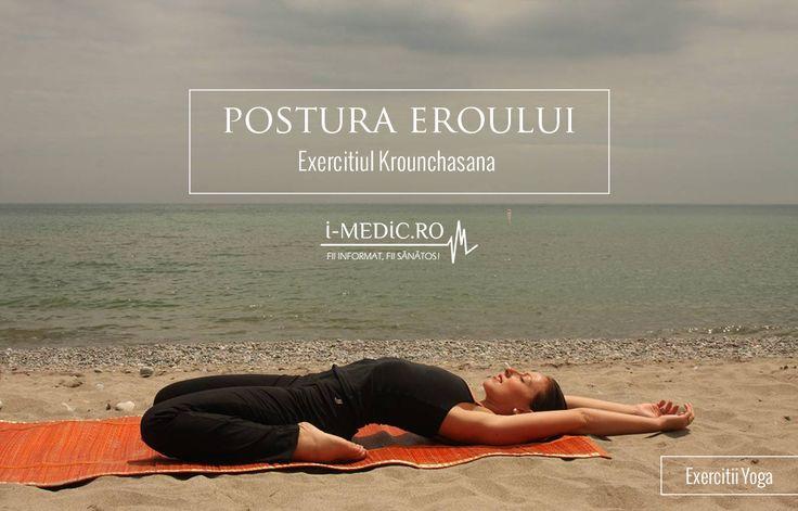 Avantajele Posturii Krounchasana: 1. Aceasta postura este benefica persoanelor cu platfus si flatulenta. 2. Constituie un exercitiu de stretching ideal pentru tendoane, tibii si calcaiul lui Ahile. 3. Stimuleaza organele aflate in cavitatea abdominala, inclusiv inima http://www.i-medic.ro/exercitii/yoga/exercitiul-krounchasana-postura-eroului