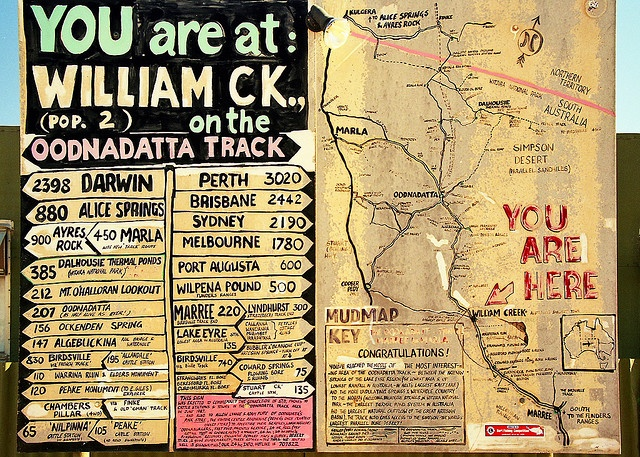Travel the Oodnadatta Track  Have photo's of this sign