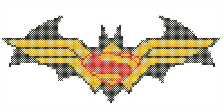 BOGO Free Cross stitch pattern BATMAN vs door Rainbowstitchcross