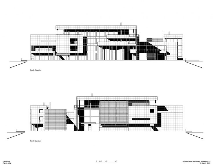 tianjin villa  u2013 richard meier  u0026 partners architects