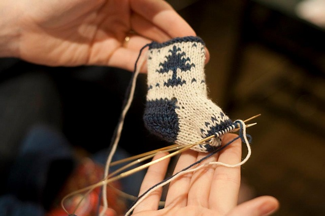 Ravelry: Project Gallery for Mini Christmas Stocking Ornaments pattern by Little…