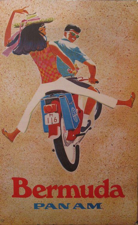 bermuda: Airline Posters, Vintage Posters, Travelposters, Panam, Vintage Airline, Shorts, Vintage Travel, Travel Posters