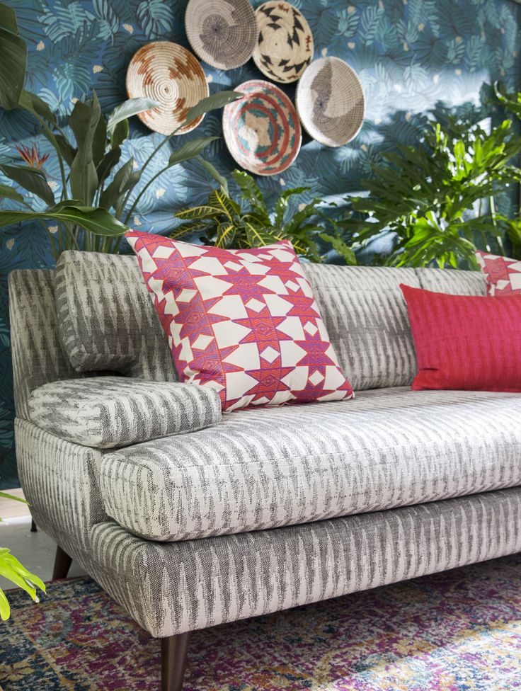 Justina Blakeney Henri Sofa - created in partnership with Justina Blakeney, designer, artist and author behind the Jungalow®. Justina's Henri sofa features an abstract zig zag print to make a bold, boho statement in your space.