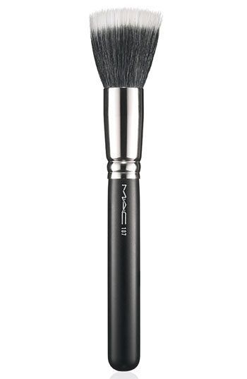 A friend of mine asked me about makeup brushes this past weekend, so I thought I would share a few of my favorites. This one from MAC (#187) makes the perfect blush brush.