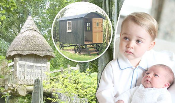 PRINCE Charles has turned part of his garden at Highgrove into a playground for his grandchildren with an £18,000 shepherd's hut and a rebuilt treehouse.