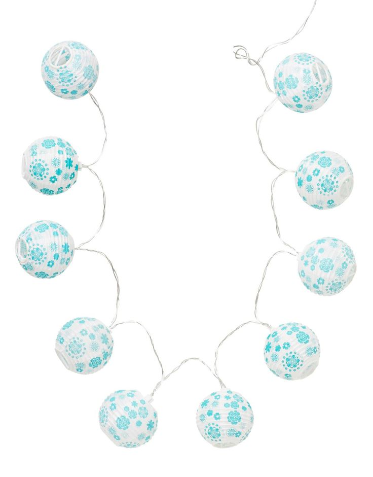 LILLY BALL CHAIN deckoration turquoise
