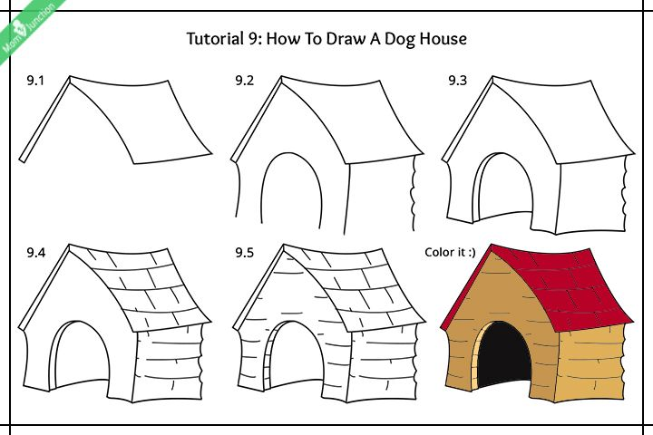 Step By Step Guide On How To Draw A Dog For Kids Dogs Kids Dog