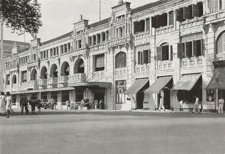 Adelphi Hotel, Singapore, at the junction of Coleman Street and North Bridge Road. 1945.   THE LIBYAN Esther Kofod www.estherkofod.com