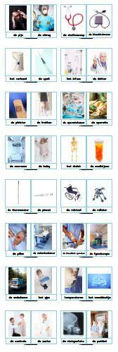 Juf Sanne Lesidee: woordkaarten dokter/ziekenhuis