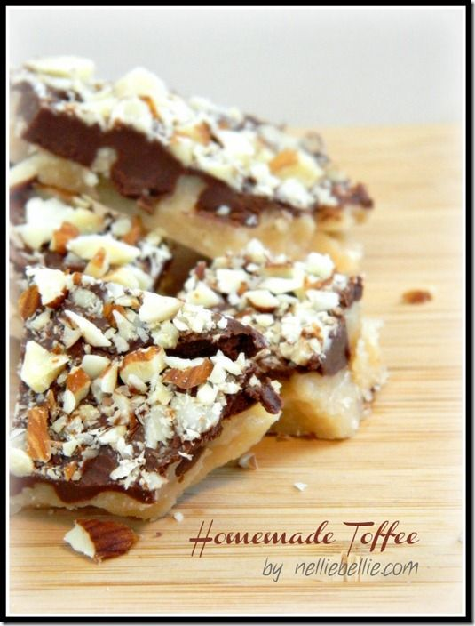 The Best Toffee Recipe...ever! Simple ingredients and instructions!
