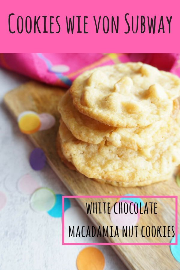 Weiße Schokoladen Macadamia Kekse – Kekse für die Seele