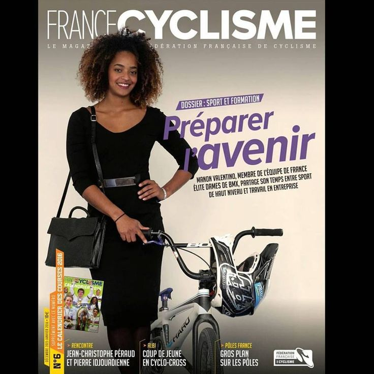 French BMX Pro Manon Valentino Gets France Cycling Cover
