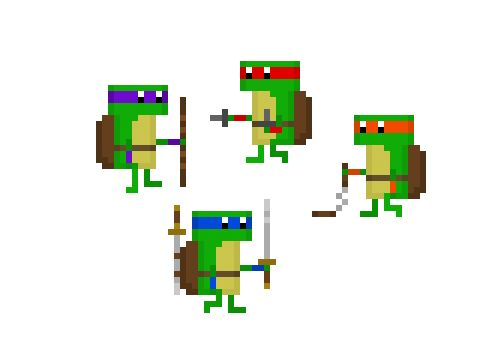 TMNT - Some of my own pixel creations