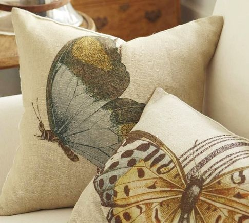 Butterfly pillows from Pottery Barn = Love