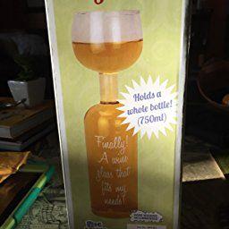 Amazon.com | BigMouth Inc Ultimate Wine Bottle Glass: Wine Glasses
