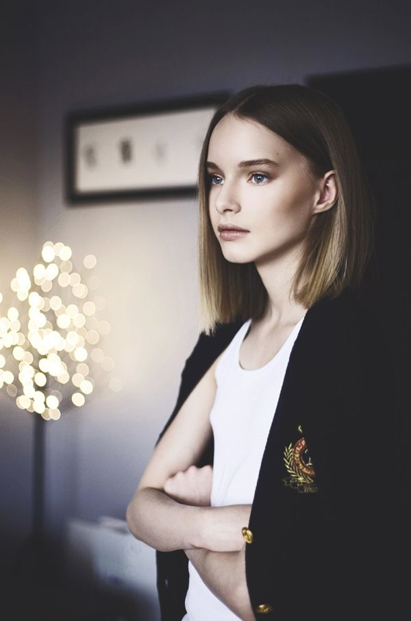 Nastya. Models off duty by Julia Chernih, via Behance