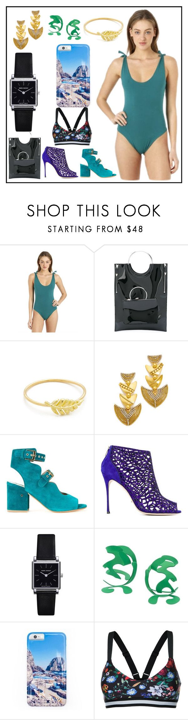 """""""glossy fashion sale"""" by denisee-denisee ❤ liked on Polyvore featuring Isole & Vulcani, Toga, Jennifer Meyer Jewelry, Erickson Beamon, Laurence Dacade, Sergio Rossi, Isabel Marant, Rosie Assoulin, Gray Malin and The Upside"""