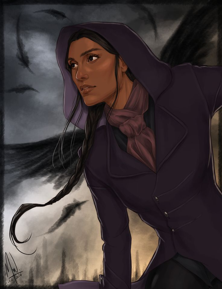 Inej Ghafa from Six of Crows. They call her the Wraith but to me she's an angel. Ok, the kind that can cut your throat but still an angel.