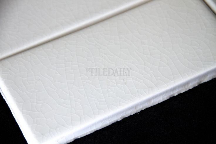 P0080 3x6 Crackle Glazed Porcelain Tile White Tile