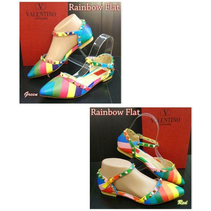 Valentino Rainbow Flat 4794 Green 40 Red 35,36,37 150rb