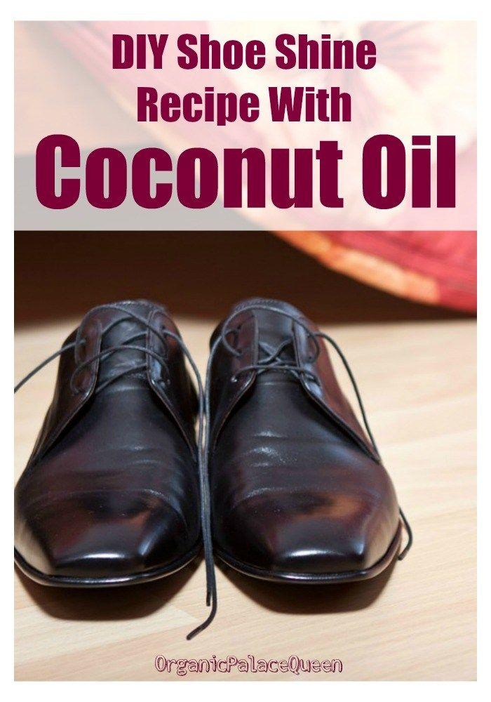 DIY shoe shine recipe with coconut oil
