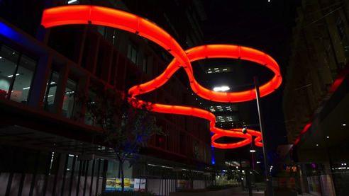 led lit public art sculpture