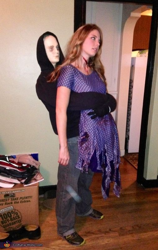 Molly: I promise that I made no amputations to achieve this costume!! No, really! Take a second look! This costume was made using second-hand clothes, an old comforter (for body padding),...