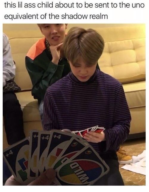 Poor Jiminie won't be reaching that last card any time soon :')