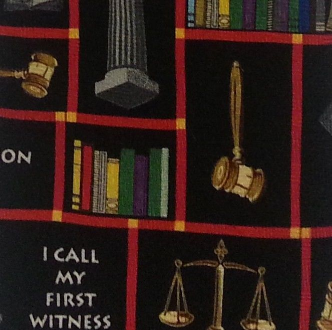 RM Style Classic Wide Mens Neck Tie Justice Scales Gavel Law Legal Books Terms #RalphMarlin #NeckTie