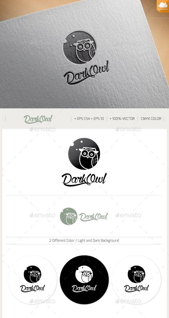 Dark Owl — Vector EPS #vector #company • Available here → https://graphicriver.net/item/dark-owl/11424086?ref=pxcr