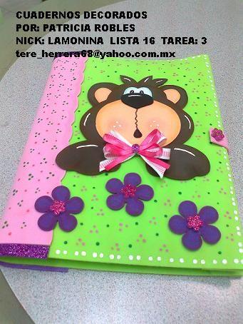 Resultado de imagen para libretas decoradas para niños con foamy