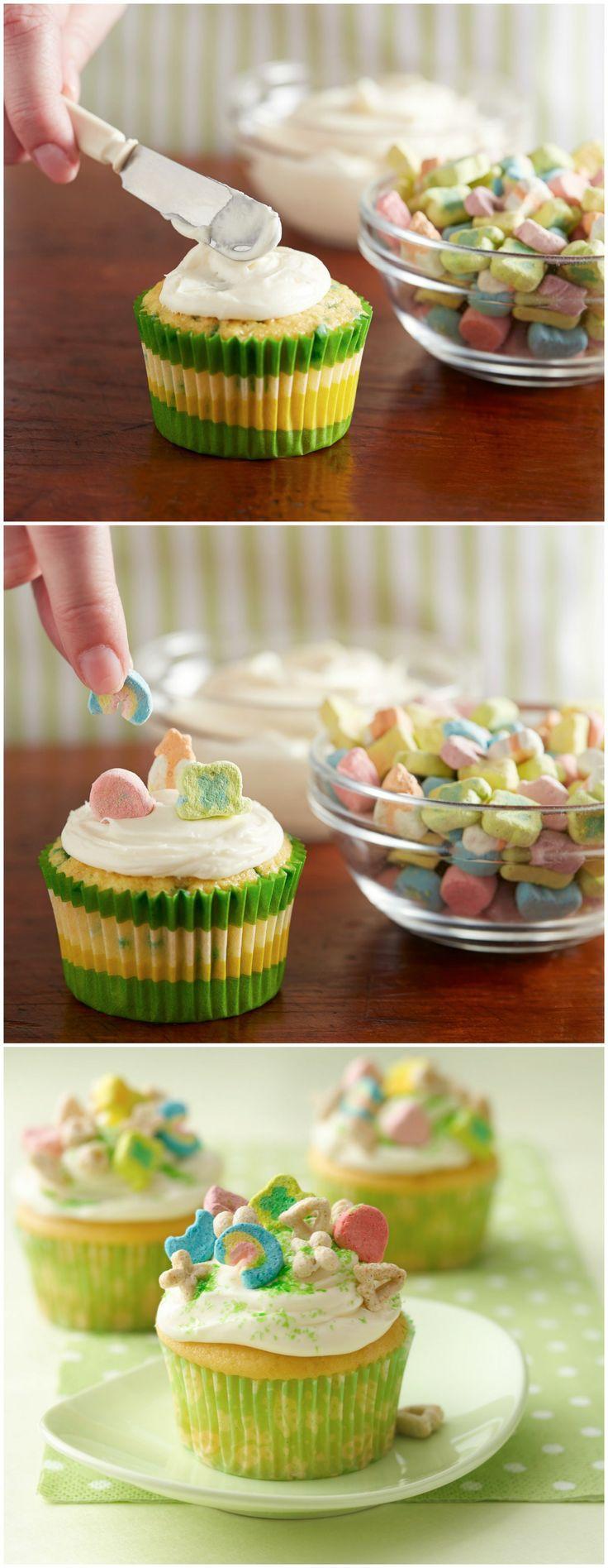 Lucky Charms® Cupcakes | Recipe | Patrick o'brian, Lucky ...