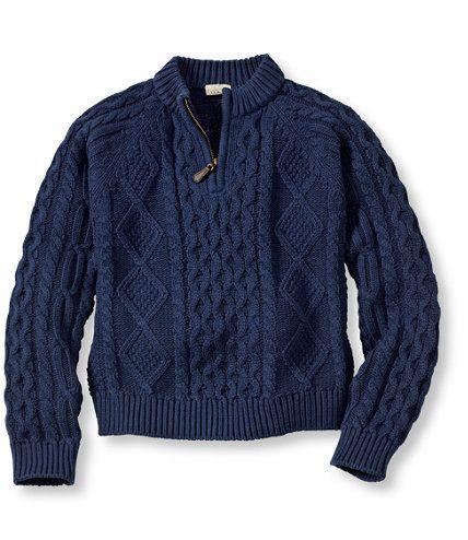 Kids' Fisherman Sweater, Quarter-Zip: Sweaters | Free Shipping at L.L.Bean