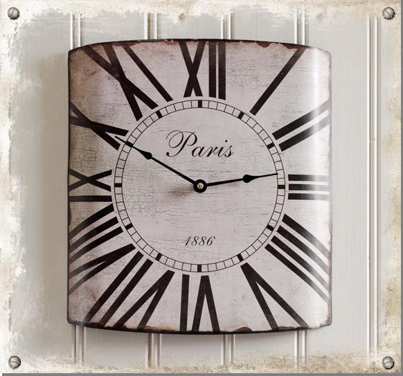 Väggur Paris - Klocka i gammaldags stil #clock #time