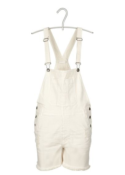 Salopette en jean Kayden by Cimarron pour femme. Denim dungarees by Cimarron for women. White summer.