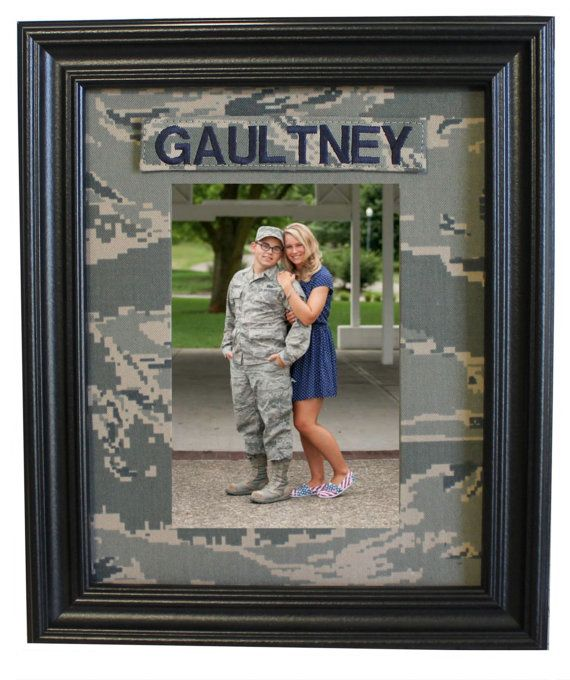 Military Camo Fabric Mat with Name Tape  Your by TheDODandMe