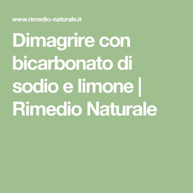 Dimagrire con bicarbonato di sodio e limone | Rimedio Naturale