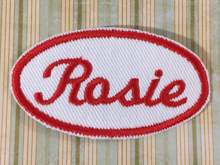 Rosie The Riveter - NAME PATCH by TrippingBalls on Etsy https://www.etsy.com/listing/251099792/rosie-the-riveter-name-patch